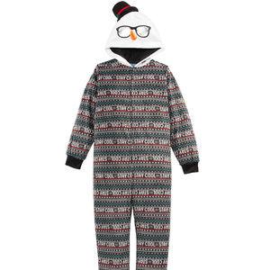 One PieceChristmas Fleece Hooded Pajamas Child 6/7
